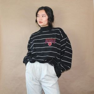 (122) vtg cotton chicago bears striped long sleeve